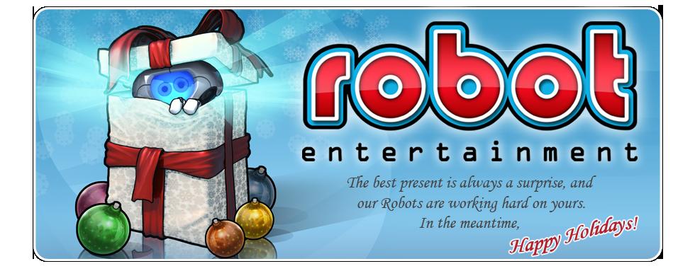 Xmas 09 Robot card